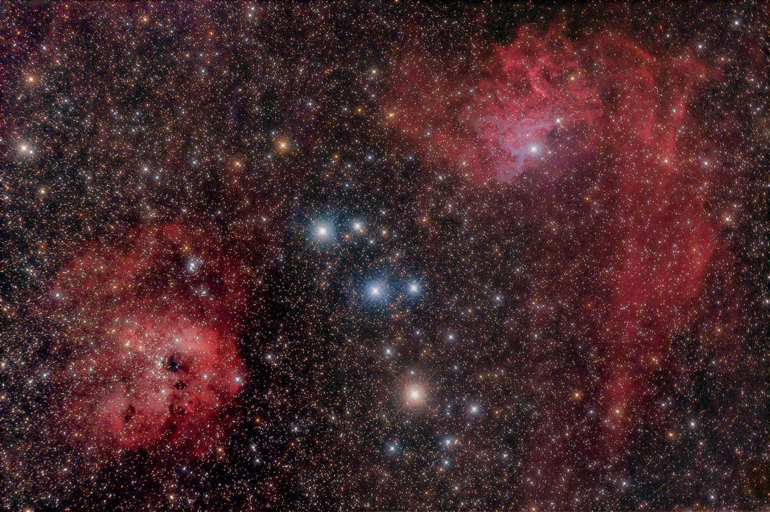 IC 405 - Flaming Star Nebula, and IC 410